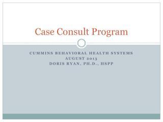 Case Consult Program