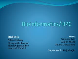 Bioinformatics/HPC