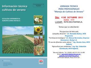INTA RAFAELA JORNADA TECNICA150