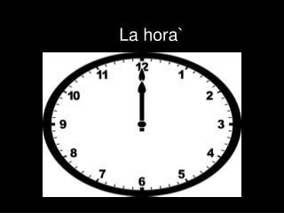 La  hora `