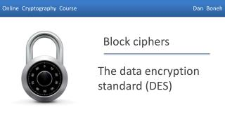 The data encryption standard (DES)