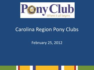 Carolina Region Pony Clubs