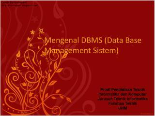 mengenal DBMS