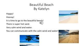 Beautiful Beach By Katelyn