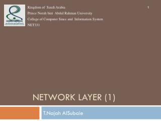 Network  layer (1)
