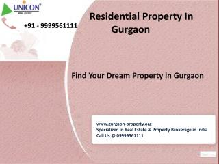 New Residential Projects in Gurgaon - Call Now @ 09999561111