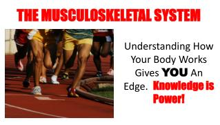 Understanding  How Your Body Works Gives  YOU  An Edge.   Knowledge is Power!