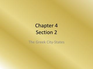 Chapter 4 Section 2