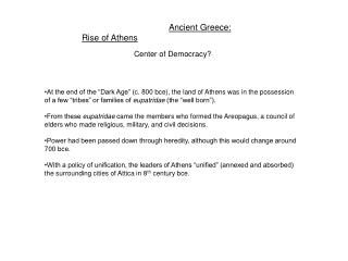 Ancient Greece: Rise of Athens