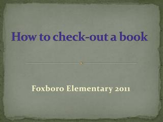 How to check-out a book