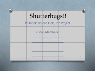 Shutterbugs!!