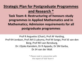 Honours in Applied Mathematics Program