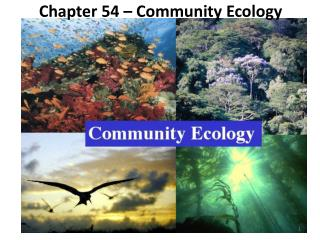 Chapter 54 – Community Ecology