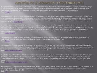 Archives de la semaine  du 4 septembre 2012