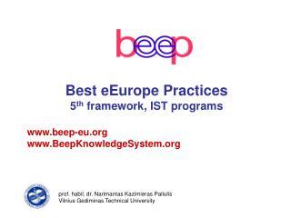 beep - Best eEurope Practices