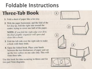 Foldable Instructions