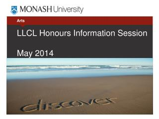 LLCL  Honours Information Session May  2014