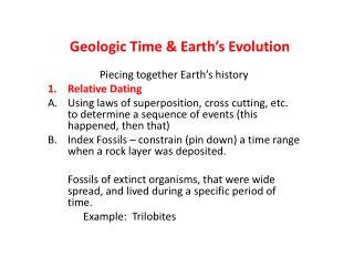 Geologic Time & Earth's Evolution