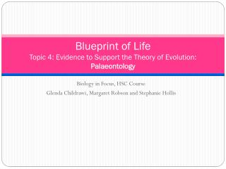 Blueprint of Life Topic 4 : Evidence to Support the Theory of Evolution:  Palaeontology