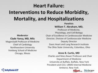 Heart Failure:  Interventions to Reduce Morbidity, Mortality, and Hospitalizations