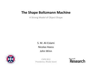 The Shape Boltzmann Machine