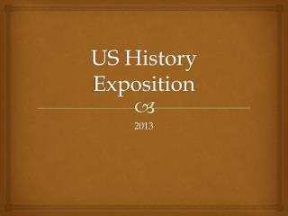 US History Exposition