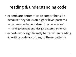 reading & understanding code