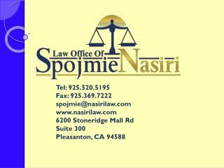 Tel: 925.520.5195 Fax: 925.369.7222 s pojmie @nasirilaw.com www.nasirilaw.com