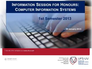 Information Session for Honours: Computer Information Systems