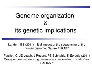 Genome organization  & its genetic implications