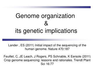 Genome organization  & its genetic implications