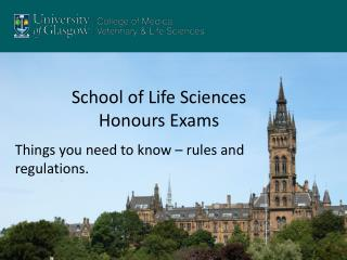 School of Life Sciences Honours  Exams