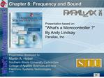 Chapter 8: Frequency and Sound