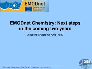 EMODnet  Chemistry: Next steps in the coming two years Alessandra  Giorgetti  (OGS, Italy)