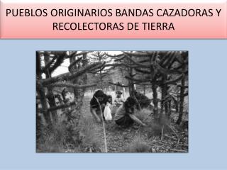 PUEBLOS ORIGINARIOS BANDAS CAZADORAS Y RECOLECTORAS DE TIERRA