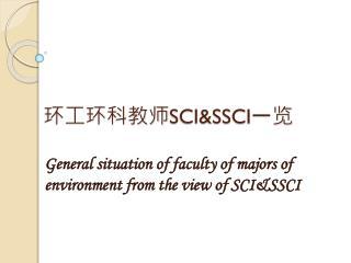 环工环科教师 SCI&SSCI 一览