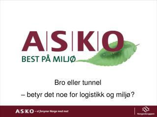 Bro eller tunnel  – betyr det noe for  logistikk og miljø?