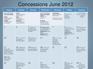 Concessions June 2012