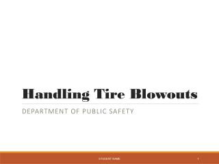Handling Tire Blowouts