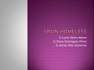 Spain Homeless