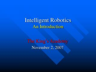 Robotics Intro