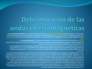 Determinación de las ondas electromagnéticas