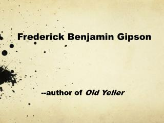 Frederick Benjamin Gipson