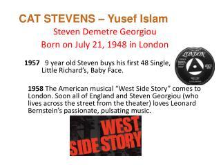 CAT STEVENS –  Yusef  Islam