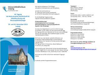 16. Tagung  der  Bielschowsky -Gesellschaft für Schielforschung und  Neuroophthalmologie