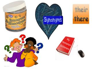 Homonyms Synonyms