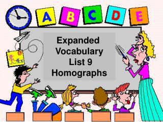 Expanded  Vocabulary  List 9 Homographs