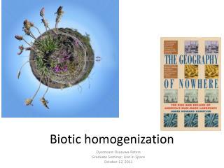 Biotic homogenization
