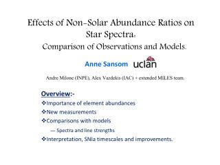 Effects of Non-Solar Abundance Ratios on Star Spectra:  Comparison of Observations and Models.