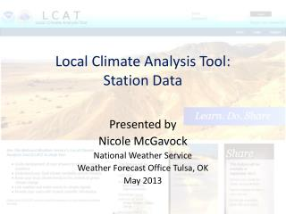 Local Climate Analysis Tool: Station Data